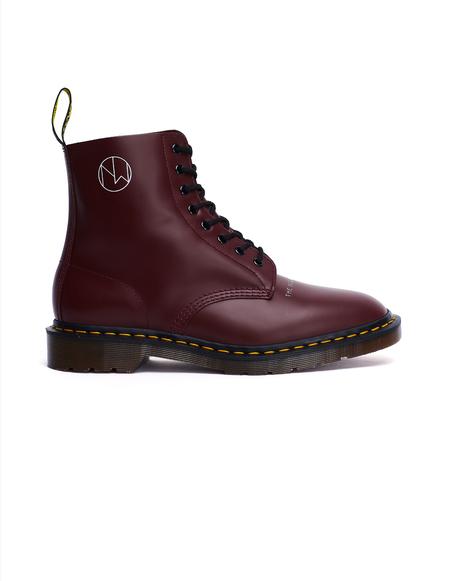 6ed119e6898e Undercover Dr.Martens Printed Boots - Cherry Red | Garmentory