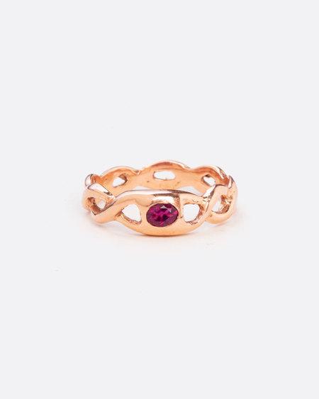 Love Adorned Vintage Pink Tourmaline Ring