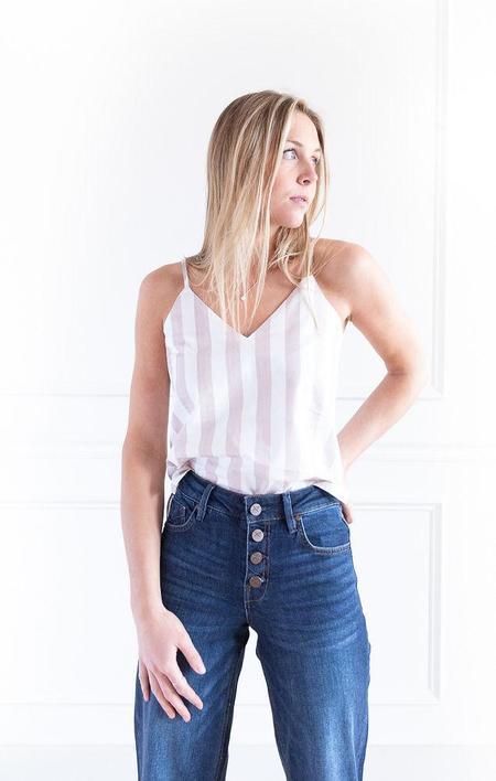 BISHOP & YOUNG Rachel Cami - white/blush stripe