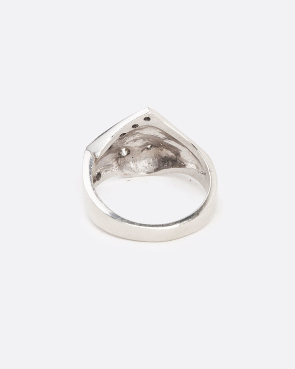 Love Adorned Vintage Geometric Diamond Ring - White Gold