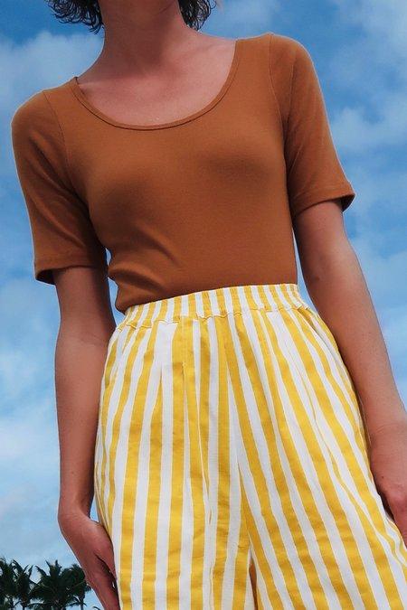 L.F.Markey Connor Bodysuit - chestnut