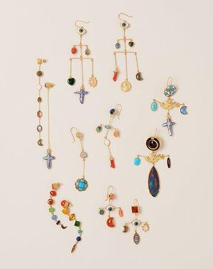 Grainne Morton Bird Cross Drop Earrings