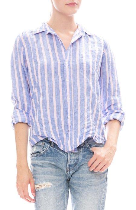 Frank & Eileen Barry Linen Shirt - Pink/Blue Stripe
