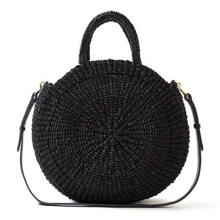 Clare V. Alice Shoulder Bag - Black Woven