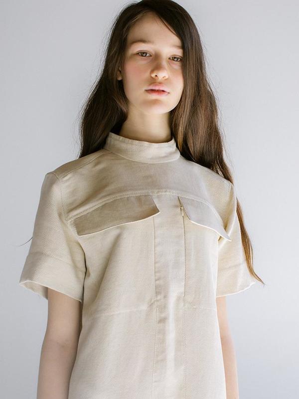 Linder Reine Midi Dress - Off White
