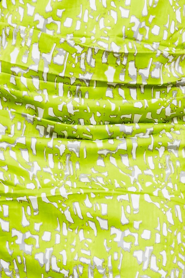 Samantha Sung v neck fitted cotton dress - lime green