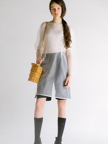 Hatori Basket Bag - Natural/Yellow Gold Lace