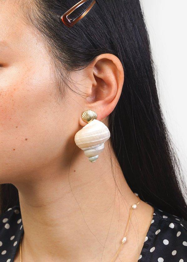 Luiny Concha & Caracol Shell Earrings