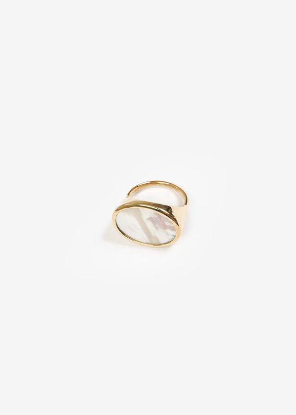 Luiny Madre Perla Ring - Brass