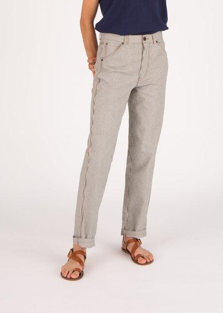 Soeur Enrique Jeans - White/Blue Stripe