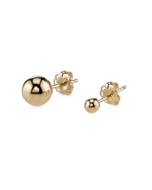 Gabriela Artigas Assymetric Orbit Earrings in 14K Gold