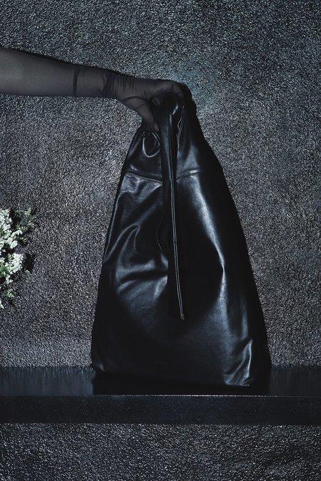 Vintage XENAB LONE LAMBSKIN TRIANGLE KNOT BAG - BLACK