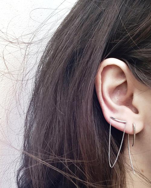 Gabriela Artigas XL Infinite Tusk Earrings in 14K Gold