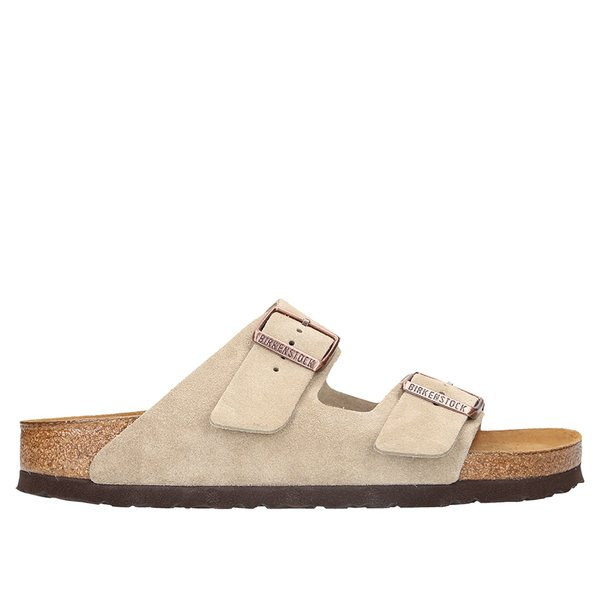 Birkenstock Arizona Soft Footbed Suede Narrow Sandal Women's Taupe Suede, 39.0