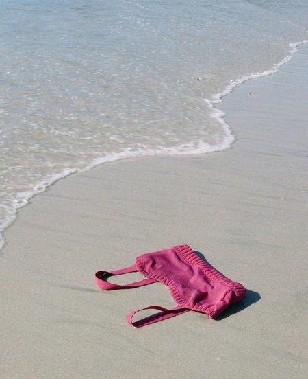 Deta Knitted Swimwear Top - Cherry