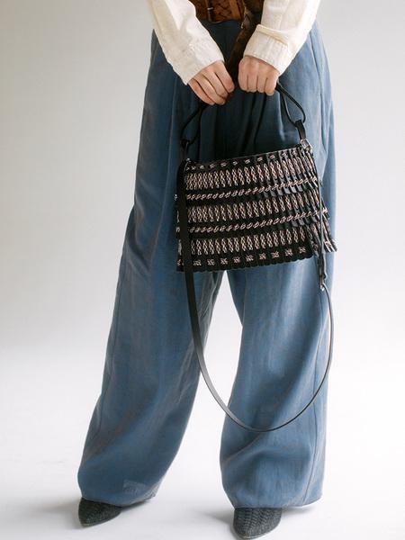 Hatori Basket Bag - Black/Multicolored Lace