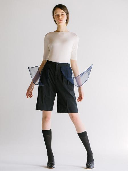 Elsewhere Noren Trouser Shorts - Black/Ocean