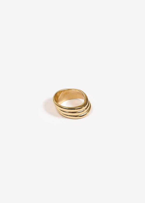 Luiny Waves Ring No. 2 - Brass