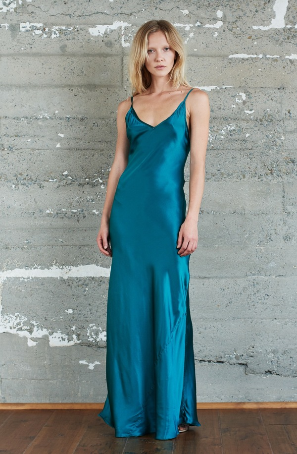 88efd814827e Kamperett Rosalind Silk Charmeuse Slip Dress   Emerald   Garmentory