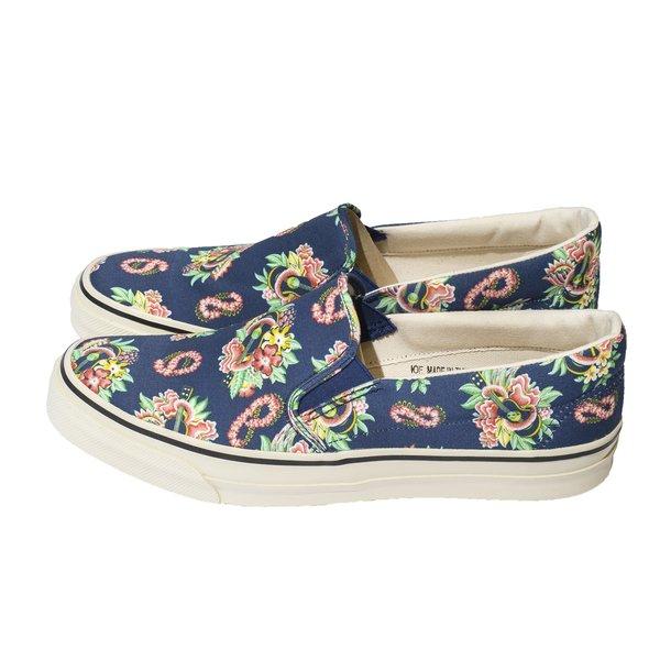 Sugar Cane Sun Surf Slip-On Shoes - Macintosh Ukulele Navy