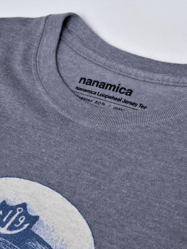 Nanamica Loopwheel Coolmax Graphic Tee - Heather Gray