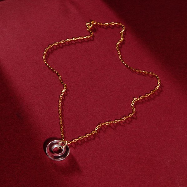 Poketo Highlow Torus Necklace - 14k Gold/Glass