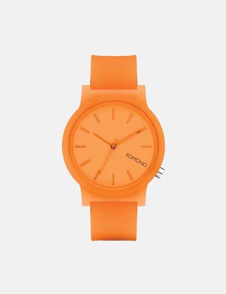 Komono Mono Watch - Neon Orange Glow