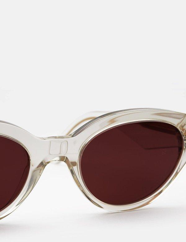 Unisex RetroSuperFuture Super Drew Sunglasses - Crystal Clear/Burgundy