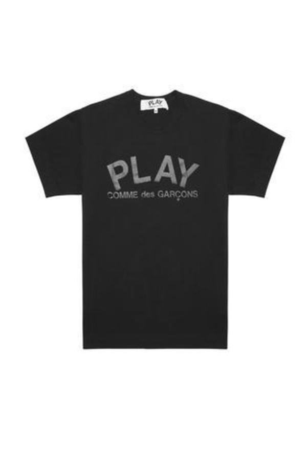 aa4a3d7f60dd1 Comme des Garçons Play Logo T-Shirt - BLACK | Garmentory