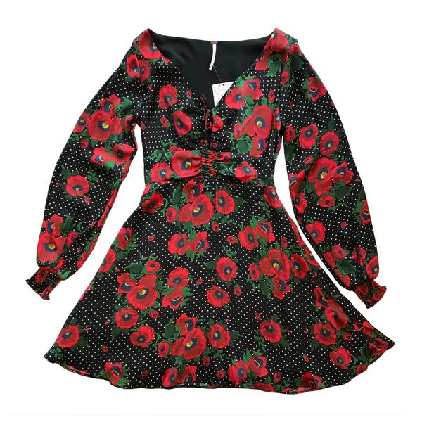 cb6f52858498 Free People Morning Light Mini Dress - Polka Dot/Floral | Garmentory