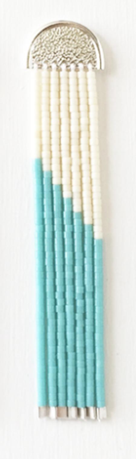 Suga Earring No. 023 - Turquoise/White