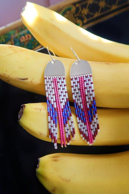 Suga Earring No. 043 - Pink Stripe