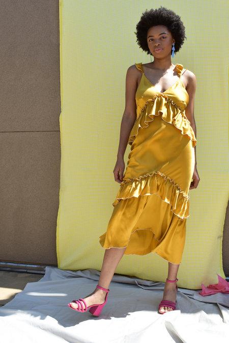 ARCANA Lilith Convertible Slip Dress - Tumeric