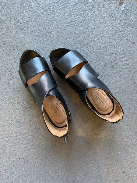 Bussola Wide Strap Sandals - black