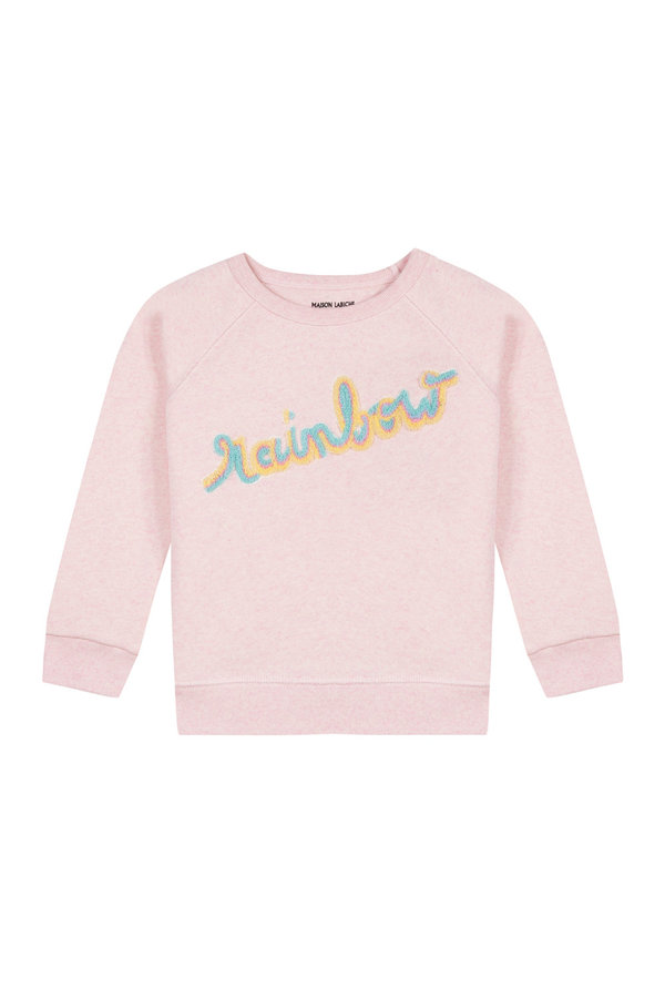 e8a086d95e154 kids Maison Labiche Patch Rainbow Sweatshirt - Pink on Garmentory