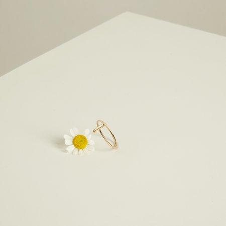 The Thorny Roses Thin Bar Ring - Gold