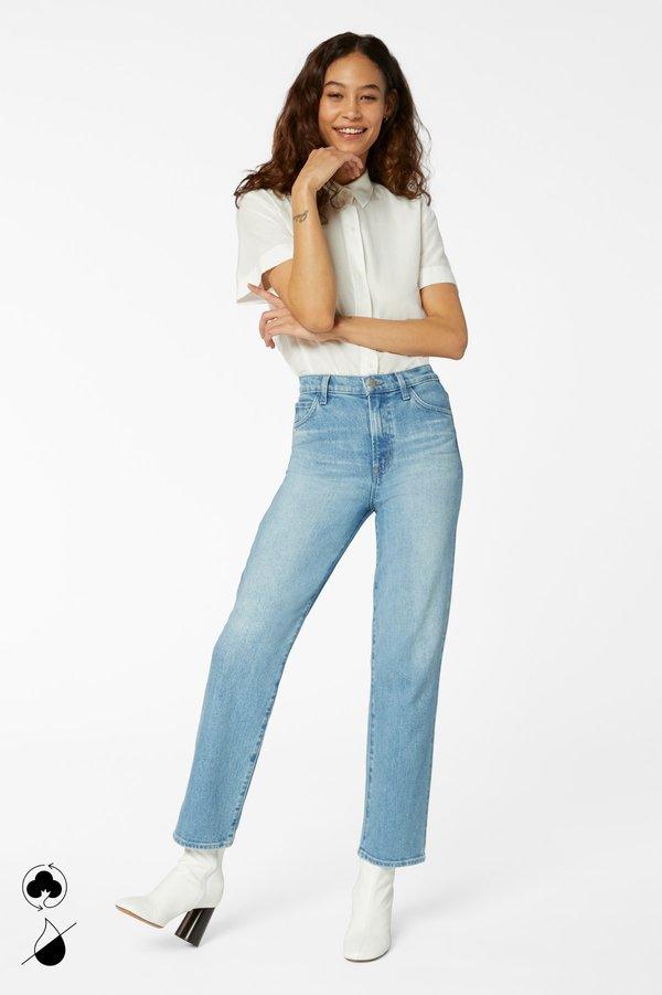 J Brand Jules High Rise Straight Leg Jeans - Marcella