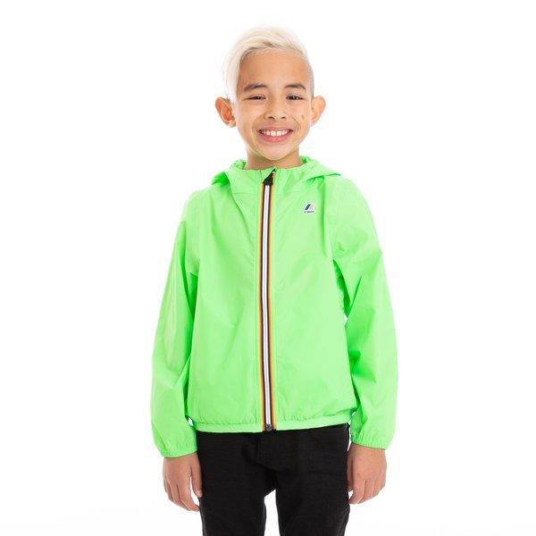Kids K-Way Le Vrai 3.0 Claude Full Zip Jacket - Green Fluo