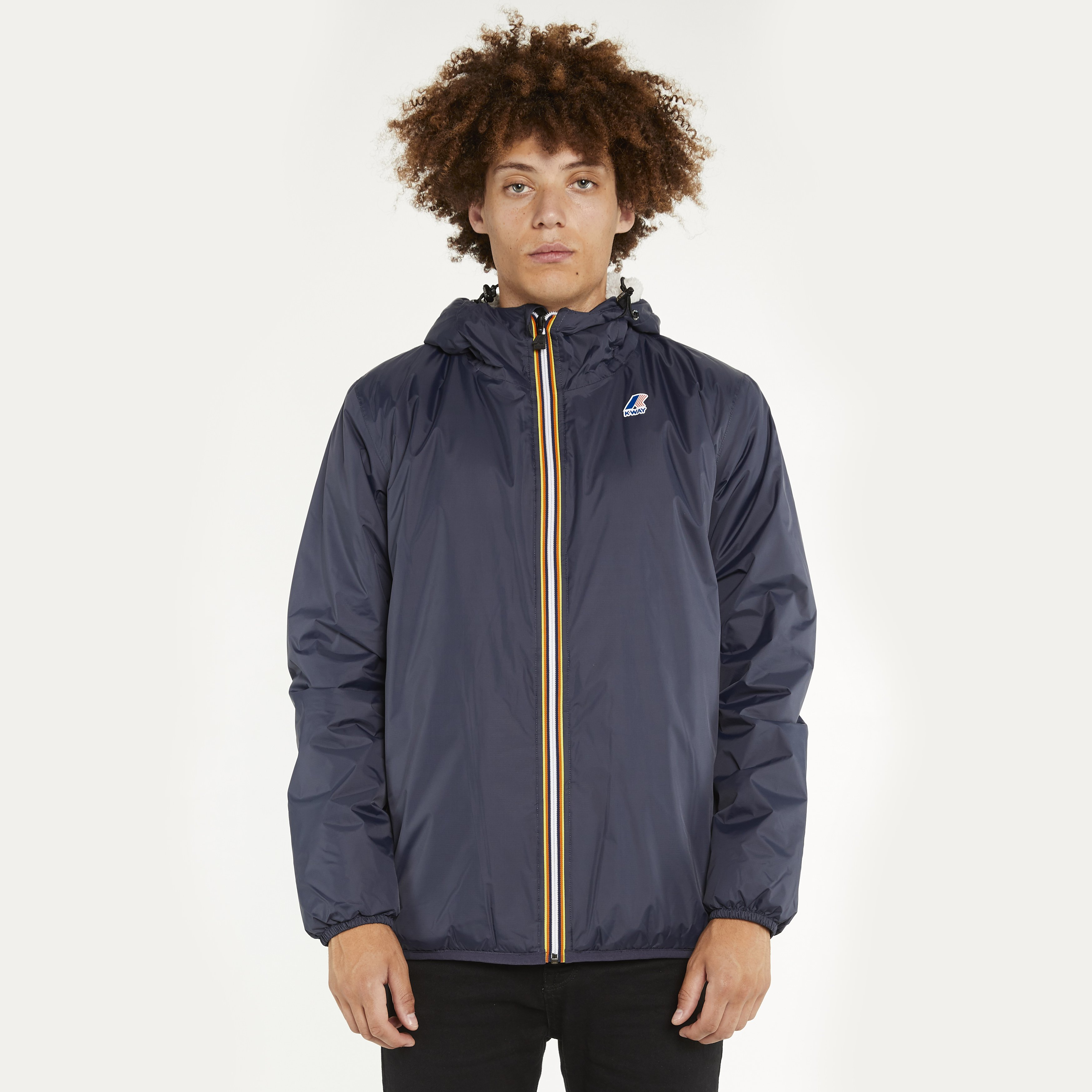 K-Way Le Vrai 3.0 Leon Padded Blue Depth Jacket