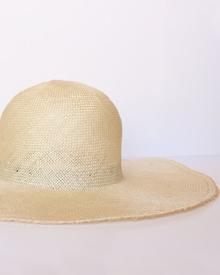 BROOKES BOSWELL SIMPLE SUNHAT - COARSE SISAL STRAW