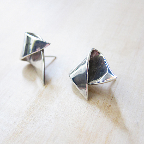 Faeber Studio Aphra studs - silver