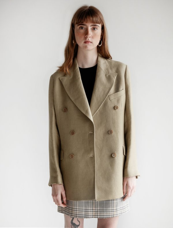 Our Legacy Unconstructed DB Blazer - Raw Olive