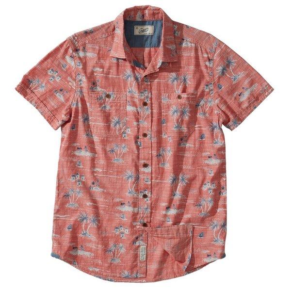 Grayers Gilligan's Printed Chambray Shirt - Dusty Cedar Print