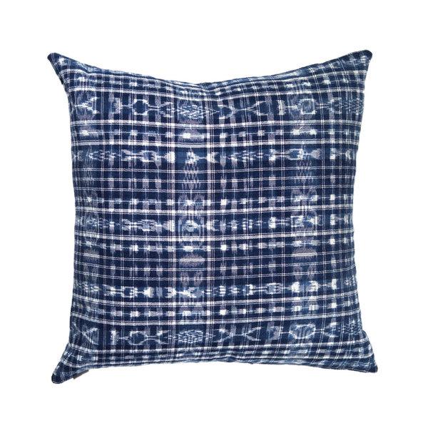 Archive New York Vintage Corte Pillow - Indigo Plaid
