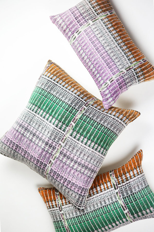 Archive New York Vintage Ikat Pillow - Pink/Orange Multi
