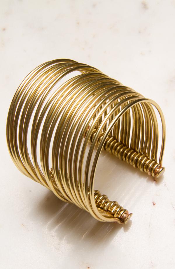 Sibilia Small Icon Cuff - brass