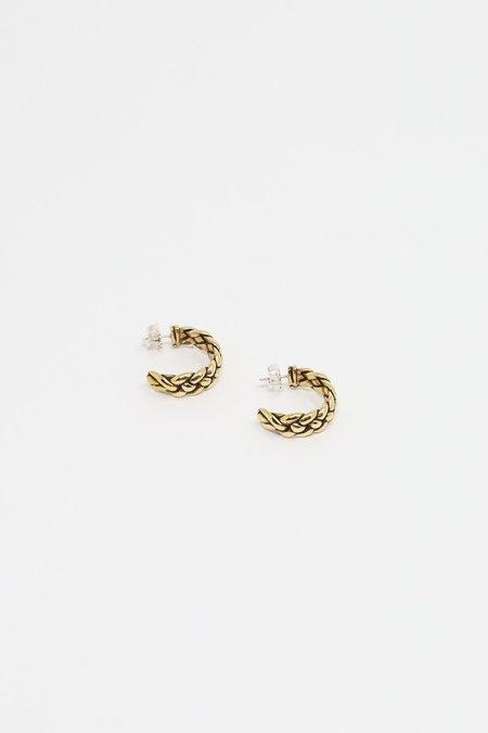Erin Considine Plait Hoops - Brass