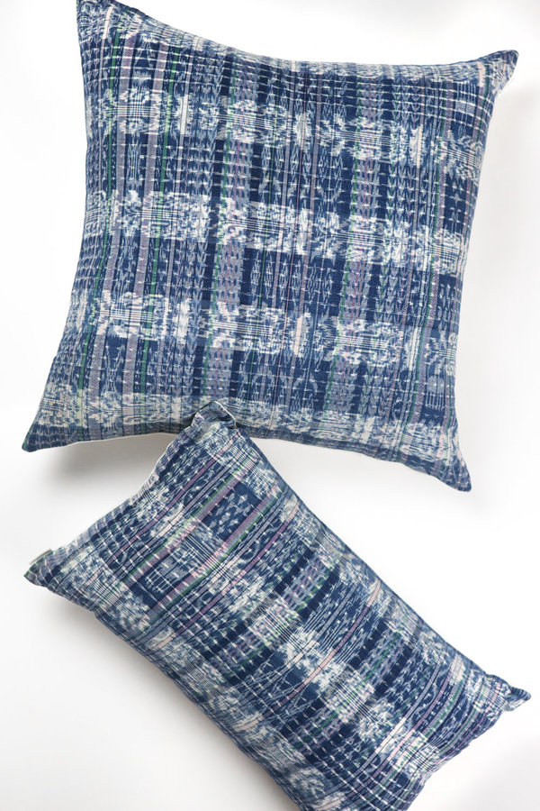 Archive New York Vintage Corte Pillow - Indigo Plaid