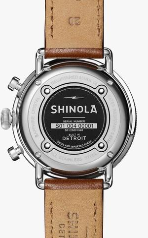 Shinola Canfield Chrono 43mm - Midnight Blue Dial