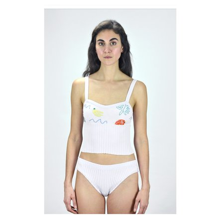 Deta knitted swimwear Tank - Banana